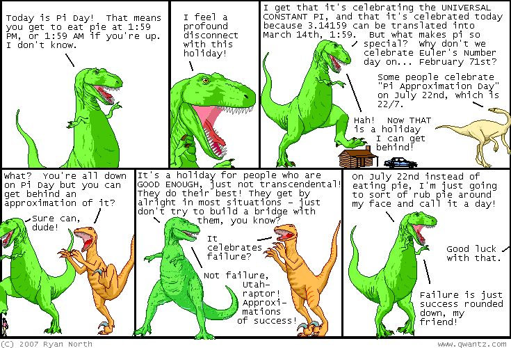 pi day dinosaurs Happy Pi Approximation Day